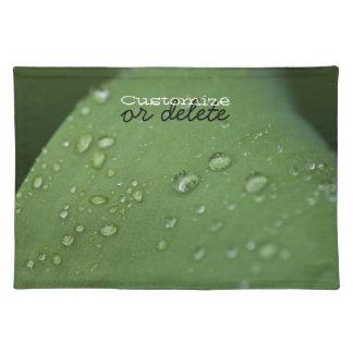 Morning Rain; Customizable Cloth Placemat