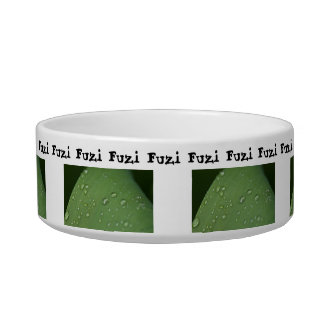 Morning Rain; Customizable Cat Food Bowl