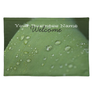Morning Rain; Promotional Cloth Placemat