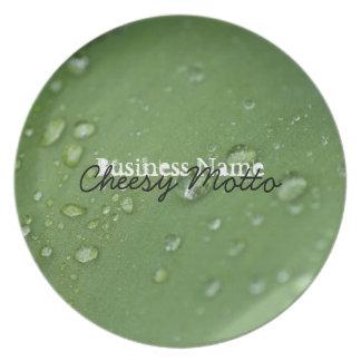Morning Rain; Promotional Dinner Plate