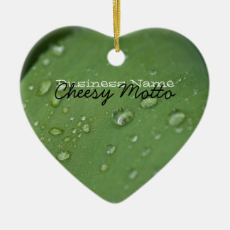 Morning Rain; Promotional Double-Sided Heart Ceramic Christmas Ornament