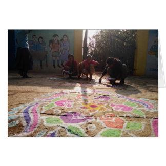 Morning Rangoli Art at Baale Mane! Card