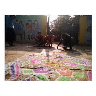 Morning Rangoli Art at Baale Mane! Postcard