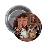 Morning Reception Of The Countess' By Hogarth Pinback Button