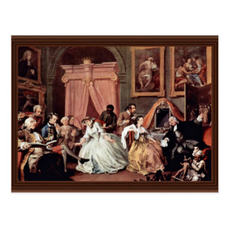 Morning Reception Of The Countess' By Hogarth Postcard