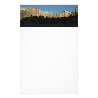 Morning Red Rocks at Zion II Stationery