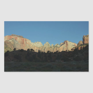 Morning Red Rocks at Zion National Park Sticker