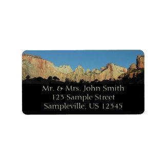 Morning Red Rocks at Zion Return Address Label
