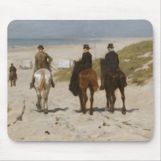 Morning Ride on the Beach - Anton Mauve Mouse Pad