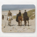 Morning Ride on the Beach - Anton Mauve Mouse Pads