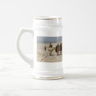 Morning Ride On The Beach - Anton Mauve 18 Oz Beer Stein