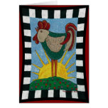 Morning Rooster - sunrise greeting card