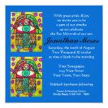 Morning Service Invit (square)  Garden Oasis Hamsa 5.25x5.25 Square Paper Invitation Card