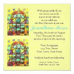 Morning Service Invit (square)  Wailing Wall Hamsa 5.25x5.25 Square Paper Invitation Card