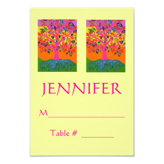 Morning Service OR Evening Affair PLACECARD Card
