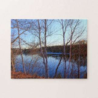 Morning Shots - Bennoch Road, Stillwater River Jigsaw Puzzle