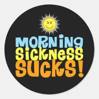 Morning Sickness Sucks Classic Round Sticker