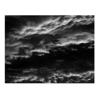 Morning Skies in Monochrome Postcard