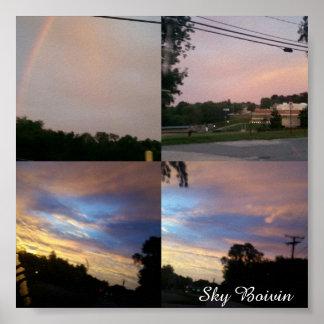 morning skies poster