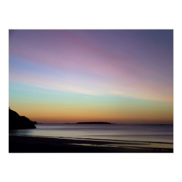 Beach Themed Morning Sky at Singing Beach Poster