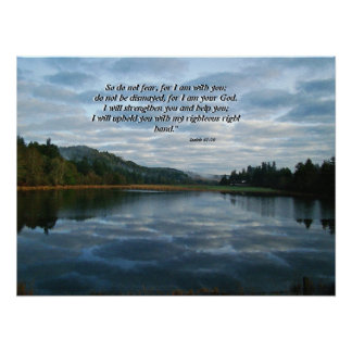 Morning Sky & Lake Isaiah 41:10 Print