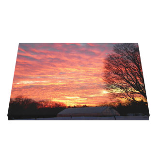 Morning Sky On Fire Canvas Print
