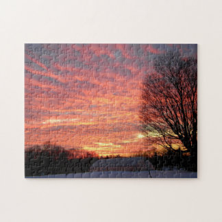 Morning Sky On Fire Jigsaw Puzzle
