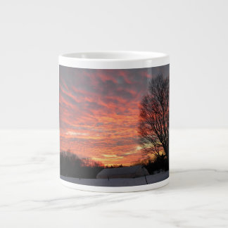 Morning Sky On Fire Large Coffee Mug