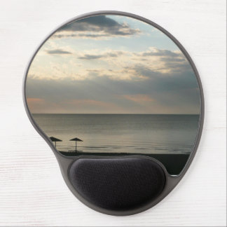 Morning sky over Greek beach Mousepad Gel Mouse Pad
