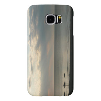 Morning sky over Greek beach photography Samsung Galaxy S6 Cases
