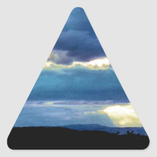 Morning sky triangle sticker