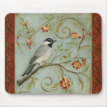 Morning Song Chickadee by Kate McRostie Mouse Pads