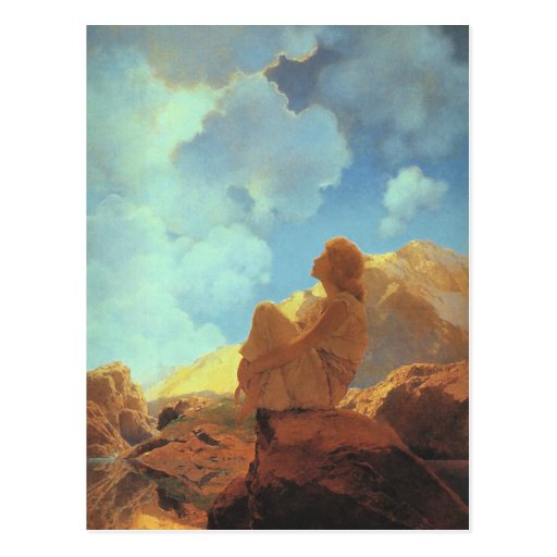 Morning (Spring), Maxfield Parrish Fine Art Postcard