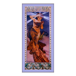 Morning Star ~ Alphonse Mucha Poster
