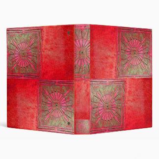 MORNING STAR , antique bright red Binder