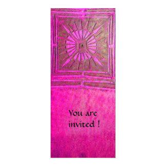 MORNING STAR , antique pink violet 4x9.25 Paper Invitation Card