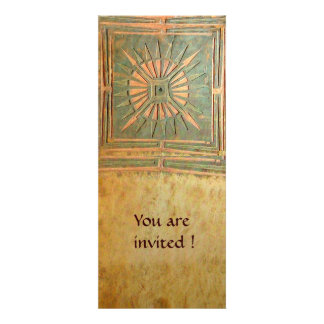 MORNING STAR , antique yellow brown green Personalized Invite