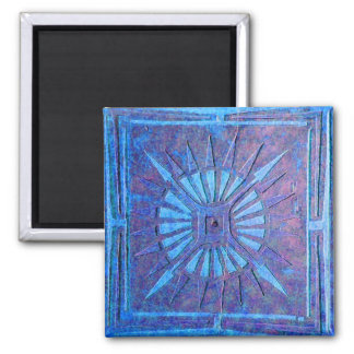 MORNING STAR ,blue 2 Inch Square Magnet