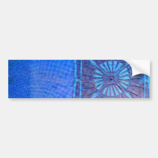 MORNING STAR  Blue, Monogram Bumper Sticker