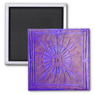 MORNING STAR ,blue purple 2 Inch Square Magnet