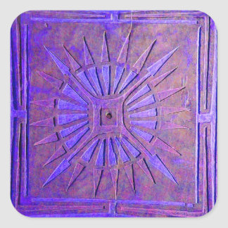MORNING STAR ,blue,purple Square Sticker