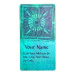 MORNING STAR ,blue turquase Shipping Label