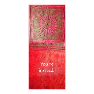 MORNING STAR , bright red 4x9.25 Paper Invitation Card