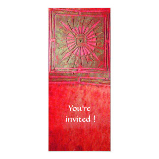 MORNING STAR , bright red 4x9.25 Paper Invitation Card