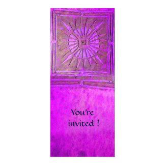MORNING STAR , bright violet pink 4x9.25 Paper Invitation Card
