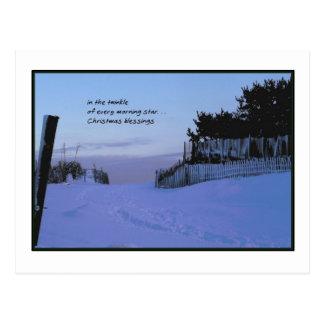 Morning Star Christmas Postcard
