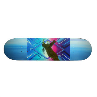 Morning star eagle / colors skateboard