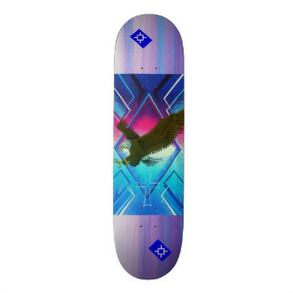 Morning star eagle skateboard deck