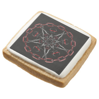 Morning Star Gothic Factal Art Square Shortbread Cookie