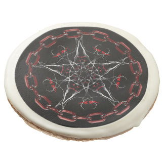 Morning Star Gothic Factal Art Sugar Cookie